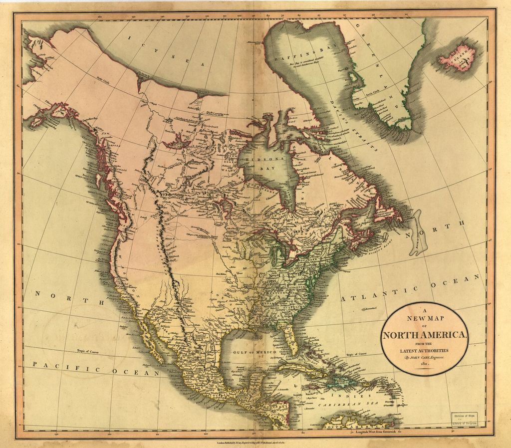 A new map of North America from the latest authorities /