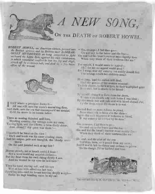 A new song on the death of Robert Howel Boston. Printed and sold by N. Coverly, Jun Milk-Street [1811?].