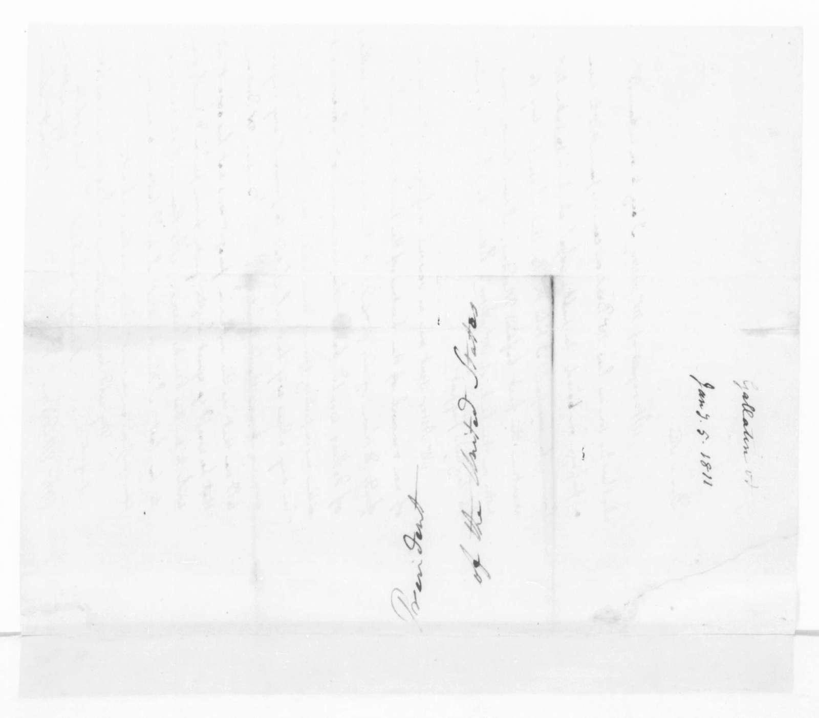 Albert Gallatin to James Madison, January 5, 1811.