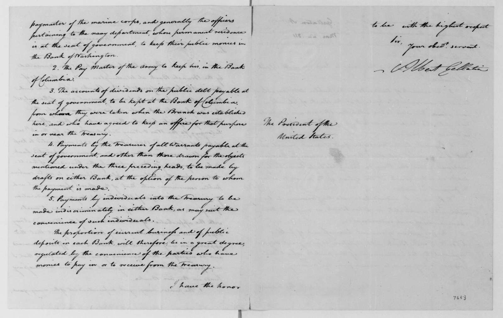 Albert Gallatin to James Madison, March 22, 1811.