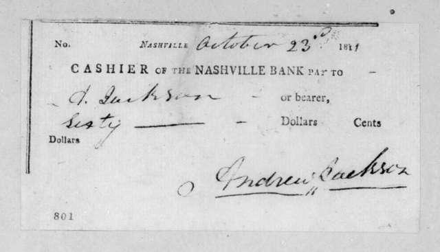 Andrew Jackson to Andrew Jackson, October 23, 1811