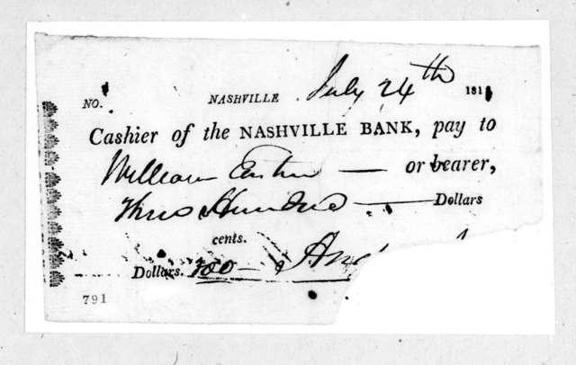 Andrew Jackson to William Eastin, July 24, 1811