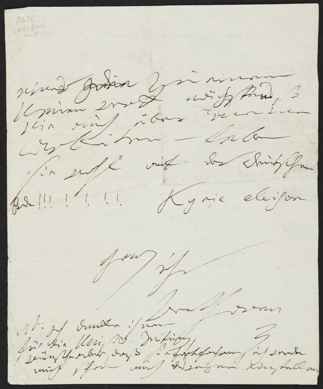 [Autograph letter to Breitkopf und Härtel]