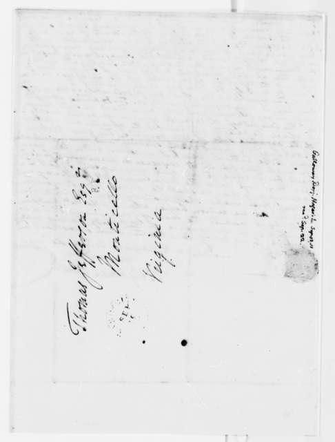 Benjamin Galloway to Thomas Jefferson, September 12, 1811