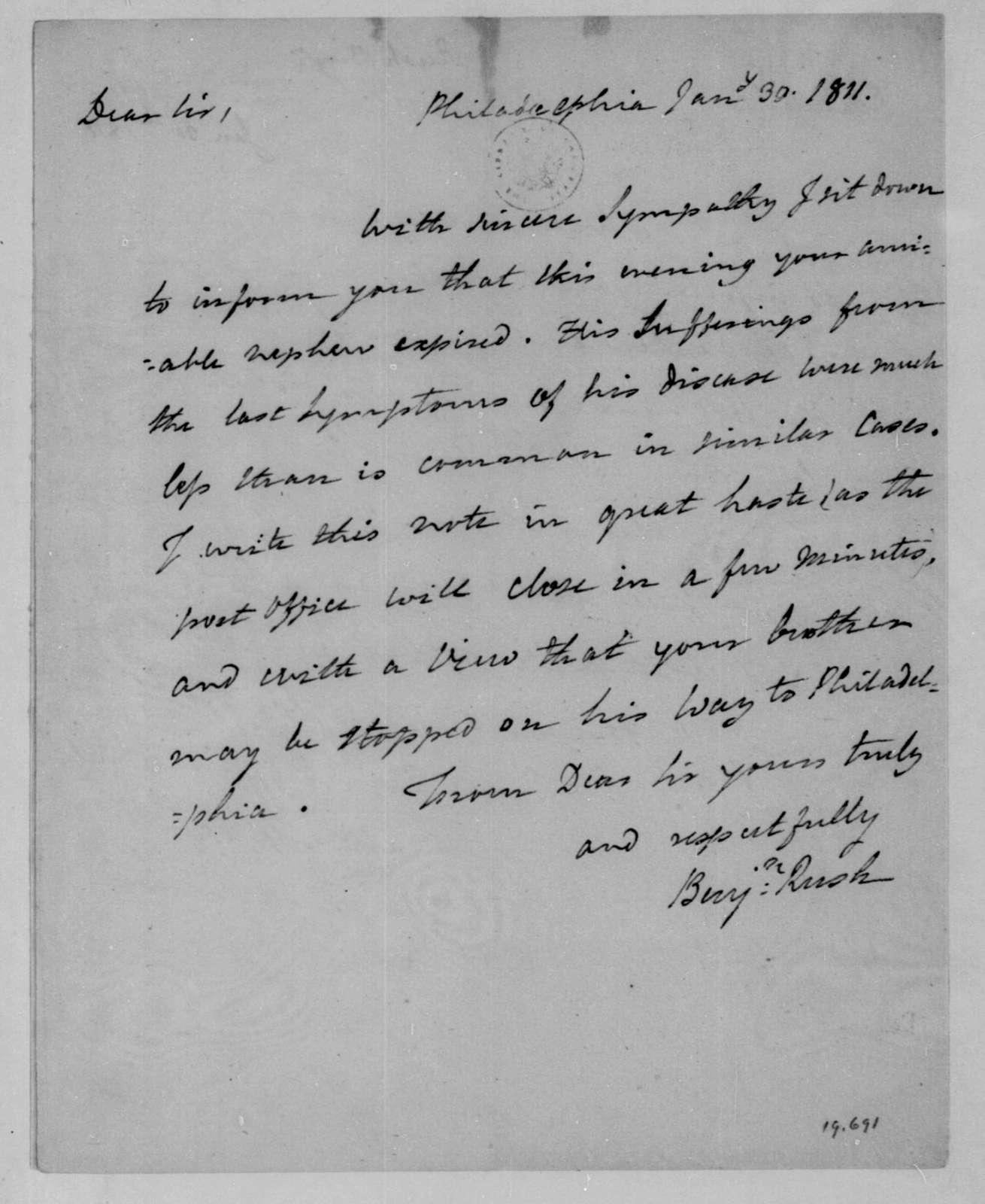 Benjamin Rush to James Madison, January 30, 1811.