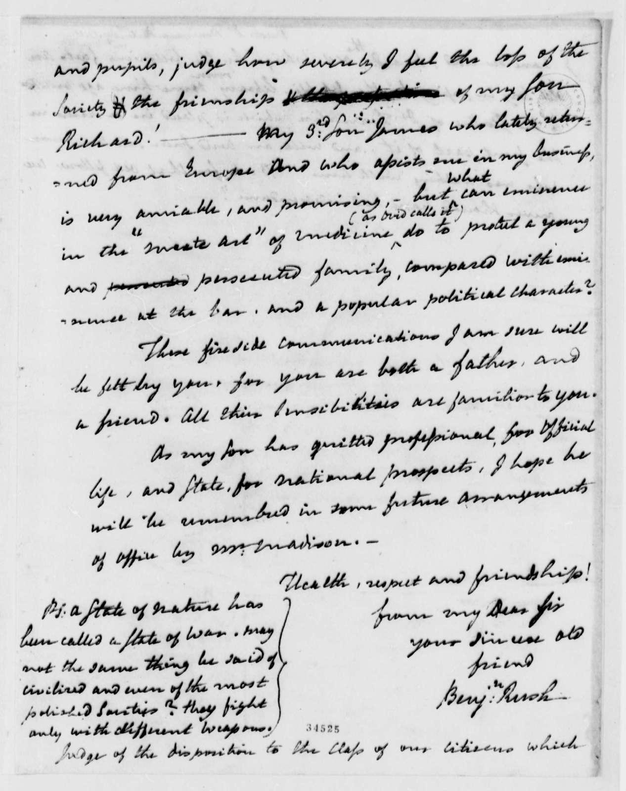 Benjamin Rush to Thomas Jefferson, December 17, 1811