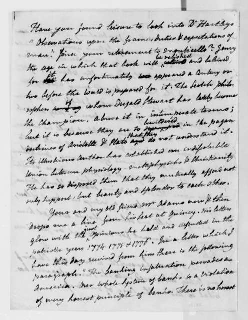 Benjamin Rush to Thomas Jefferson, January 2, 1811