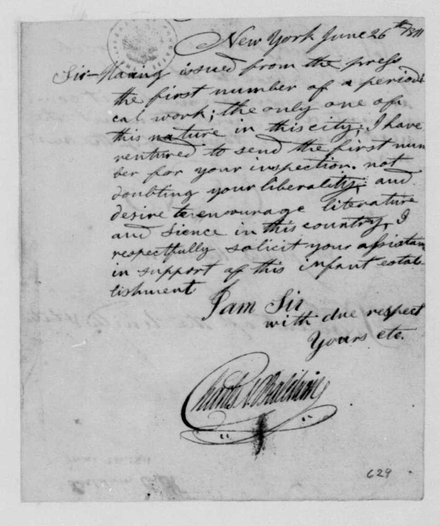 Charles Baldwin to James Madison, June 26, 1811.