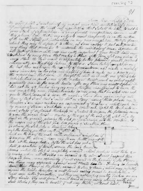 Charles Willson Peale to Thomas Jefferson, September 9, 1811, with Drawings