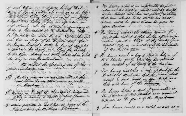 Cowles Mead to James Madison, November 20, 1811. Includes a copy of a presentment against Harry Toulmin, by the Grand Jury of Baldwin Co., Mississippi Territory.
