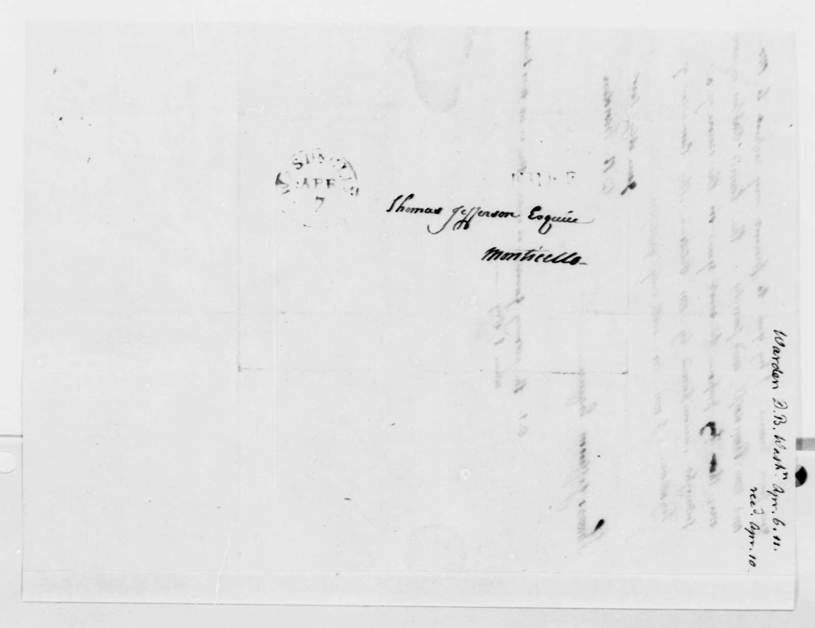 David B. Warden to Thomas Jefferson, April 6, 1811