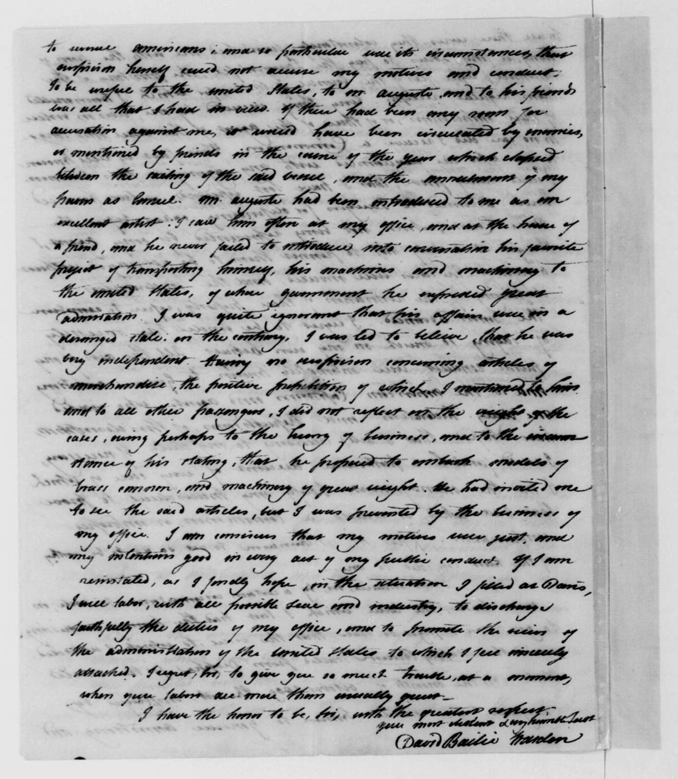 David Bailie Warden to James Madison, February 26, 1811.