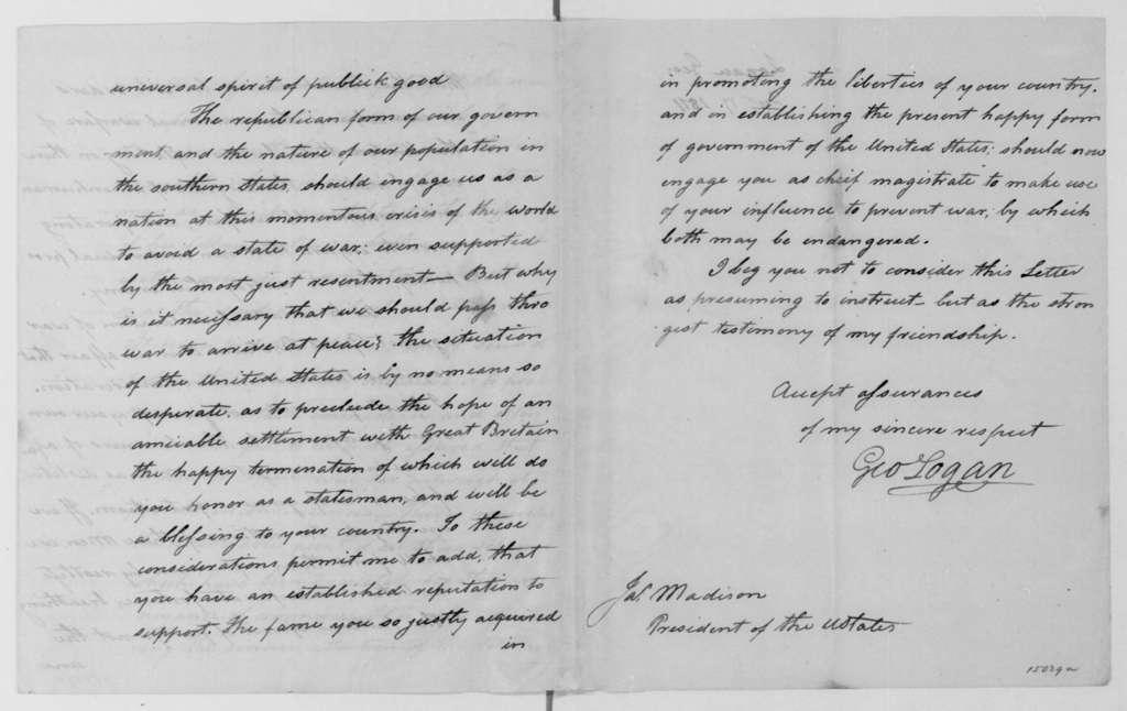 George Logan to James Madison, December 17, 1811.