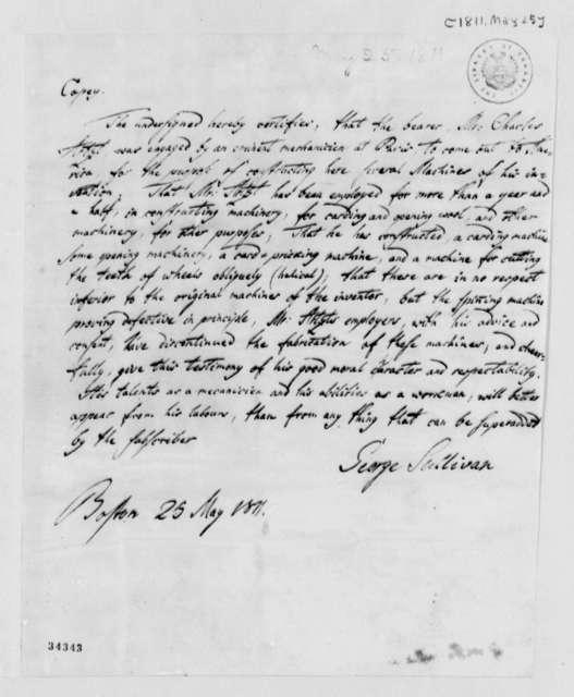 George Sullivan to Thomas Jefferson, May 25, 1811