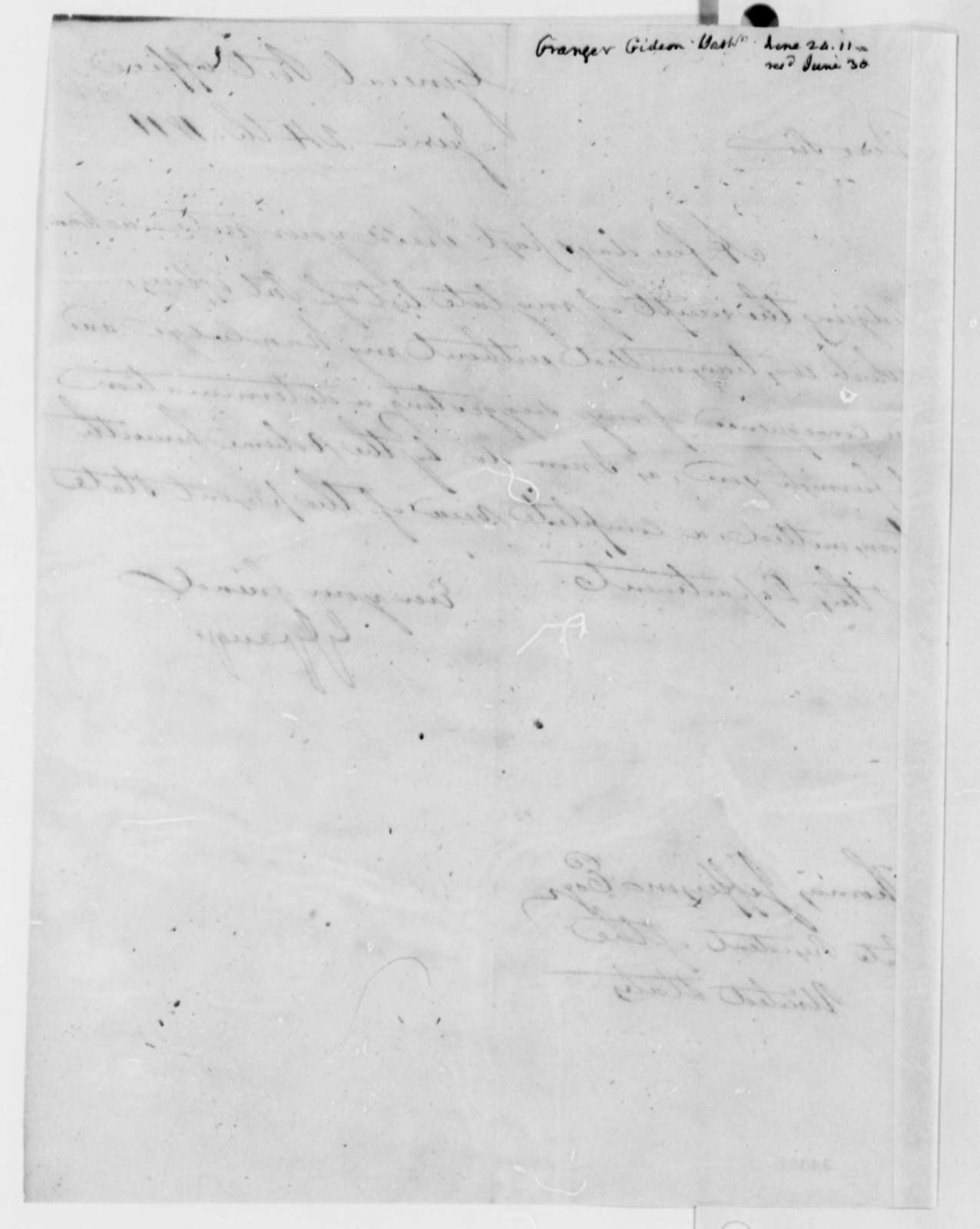 Gideon Granger to Thomas Jefferson, June 24, 1811