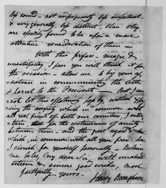 Henry Brougham to James Monroe, November 1, 1811.