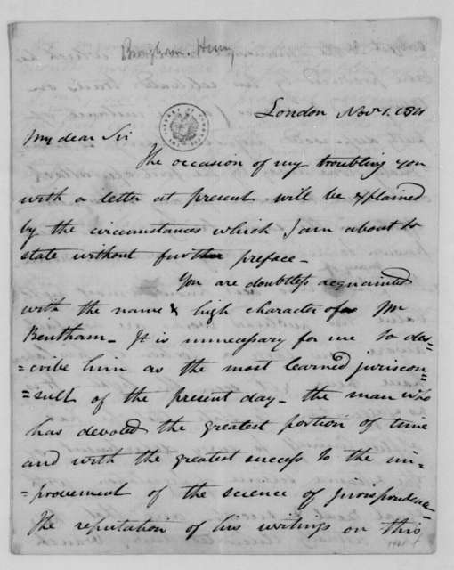 Henry Brougham to James Monroe, November 1, 1811.