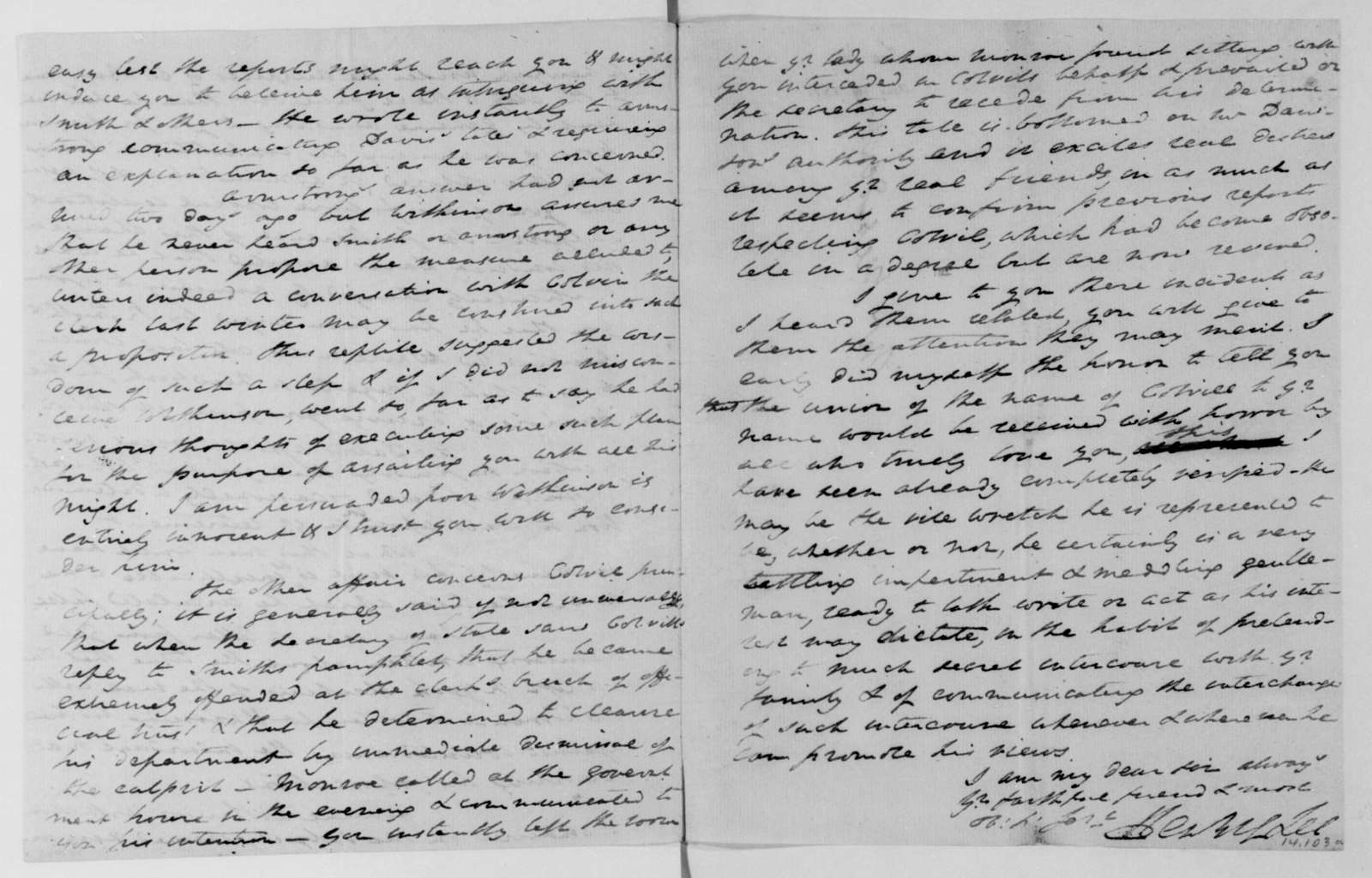 Henry Lee to James Madison, August 19, 1811.
