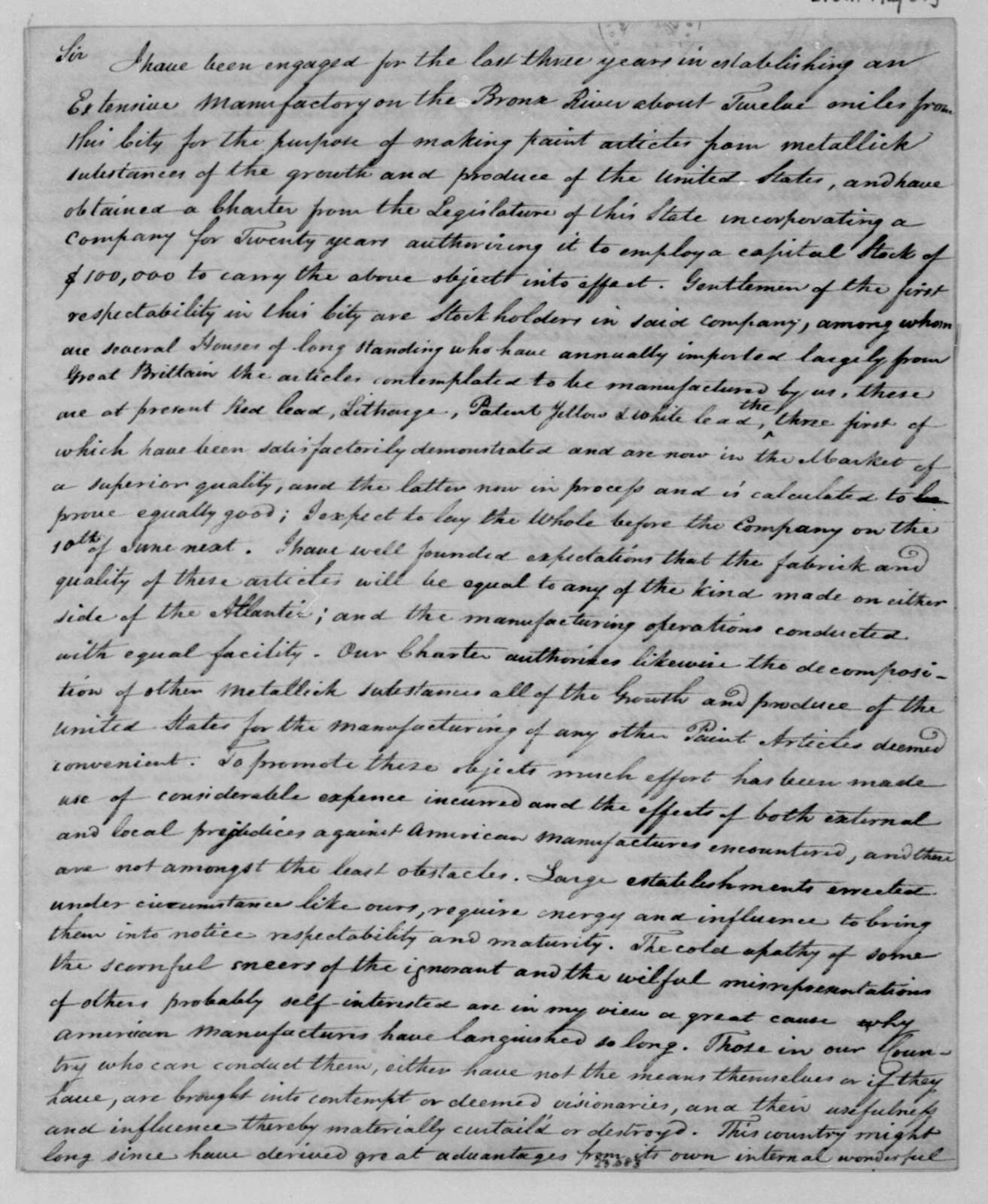 Herman Vosburgh to James Madison, May 31, 1811.