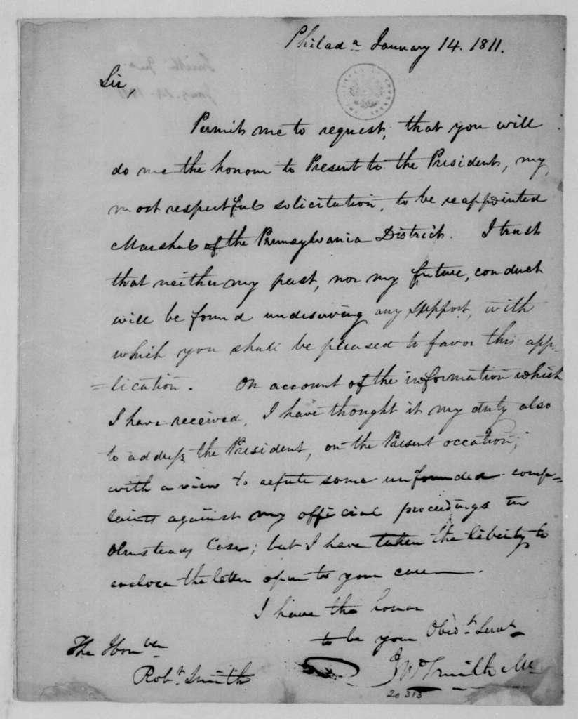J. Smith to Robert Smith, January 14, 1811.
