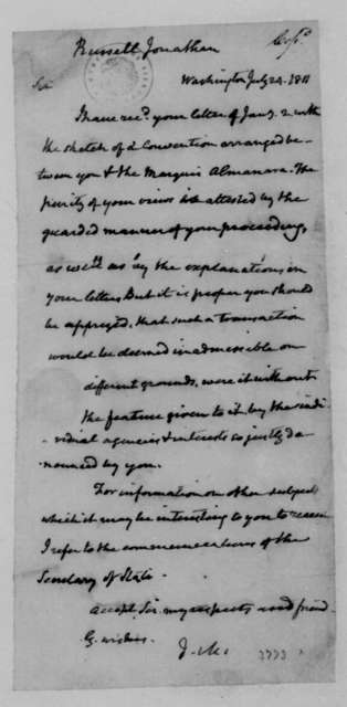 James Madison to Jonathan Russell, July 24, 1811.
