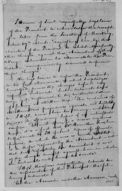 James Madison to Samuel Hanson of Samuel, April 29, 1811. Memorial.