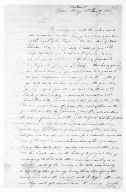James Neilson to James Madison, January 5, 1811.