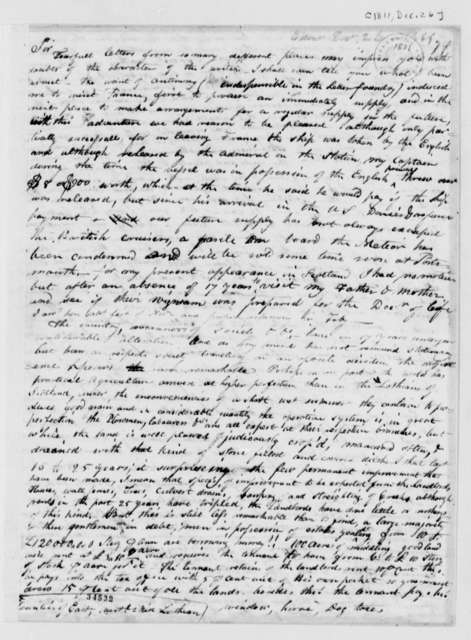 James Ronaldson to Thomas Jefferson, December 26, 1811
