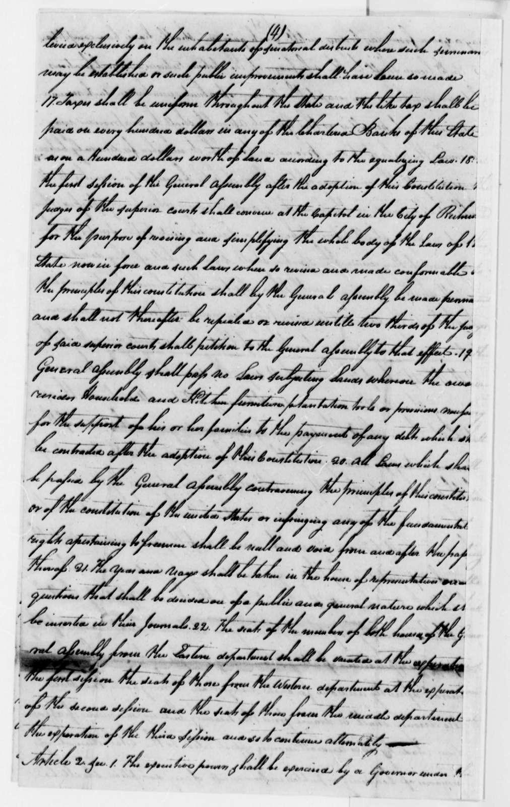 James S. Gaines to Thomas Jefferson, September 3, 1811, with Plan