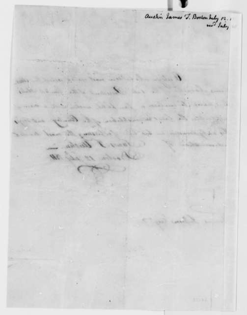 James T. Austin to Thomas Jefferson, July 12, 1811