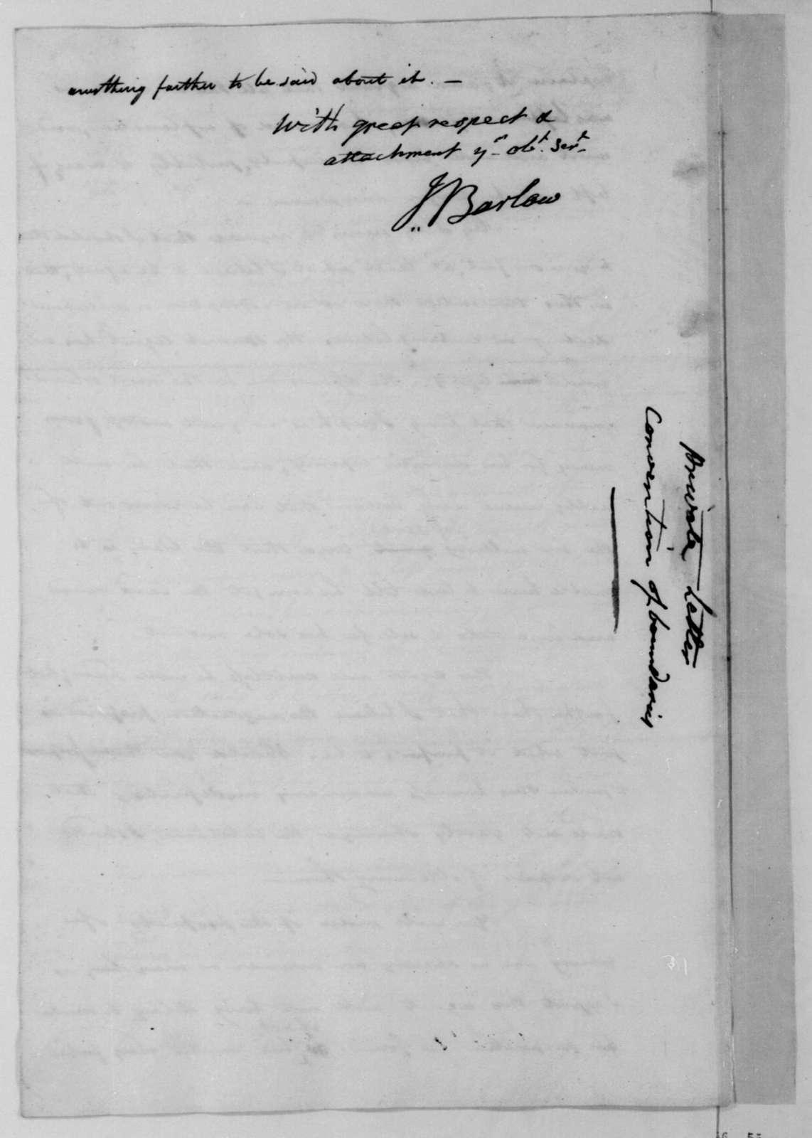 Joel Barlow to James Madison, December 30, 1811.