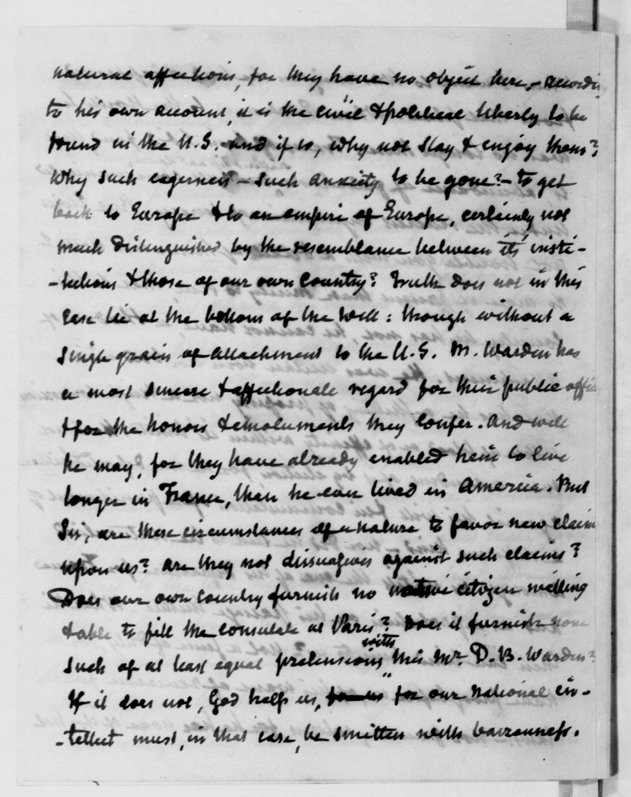 John Armstrong to James Madison, March 3, 1811.
