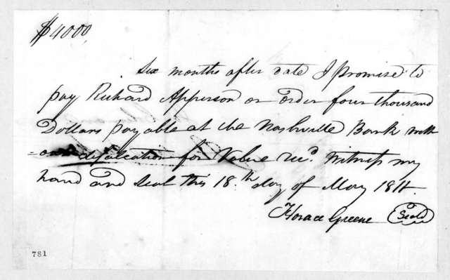 Joseph Coleman to Richard Apperson, May 18, 1811