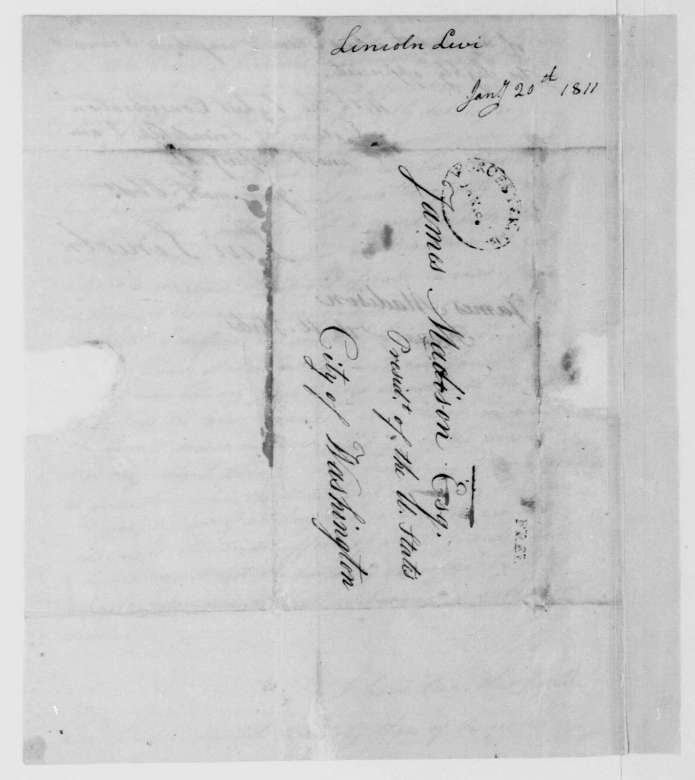 Levi Lincoln to James Madison, January 20, 1811.