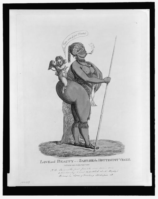 Love and beauty--Sartjee the Hottentot Venus