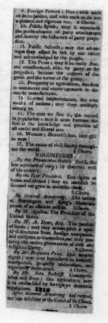 Morgan Lewis to James Madison, July 15, 1811. With Clippings.