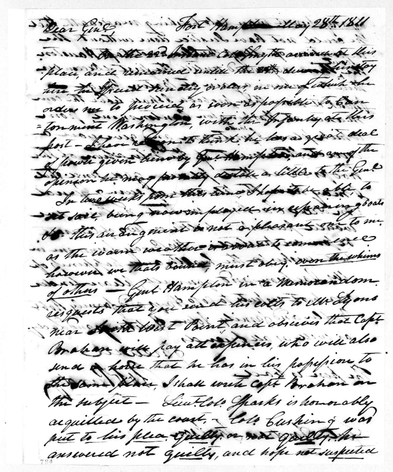 Robert Purdy to Andrew Jackson, May 28, 1811