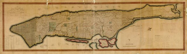 This map of the city of New York and island of Manhattan, as laid out by the commissioners appointed by the legislature, April 3d, 1807 is respectfully dedicated to the mayor, aldermen and commonalty thereof /