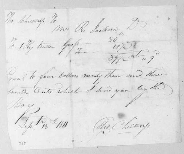 Thomas Childress to Rachel Donelson Jackson, September 12, 1811