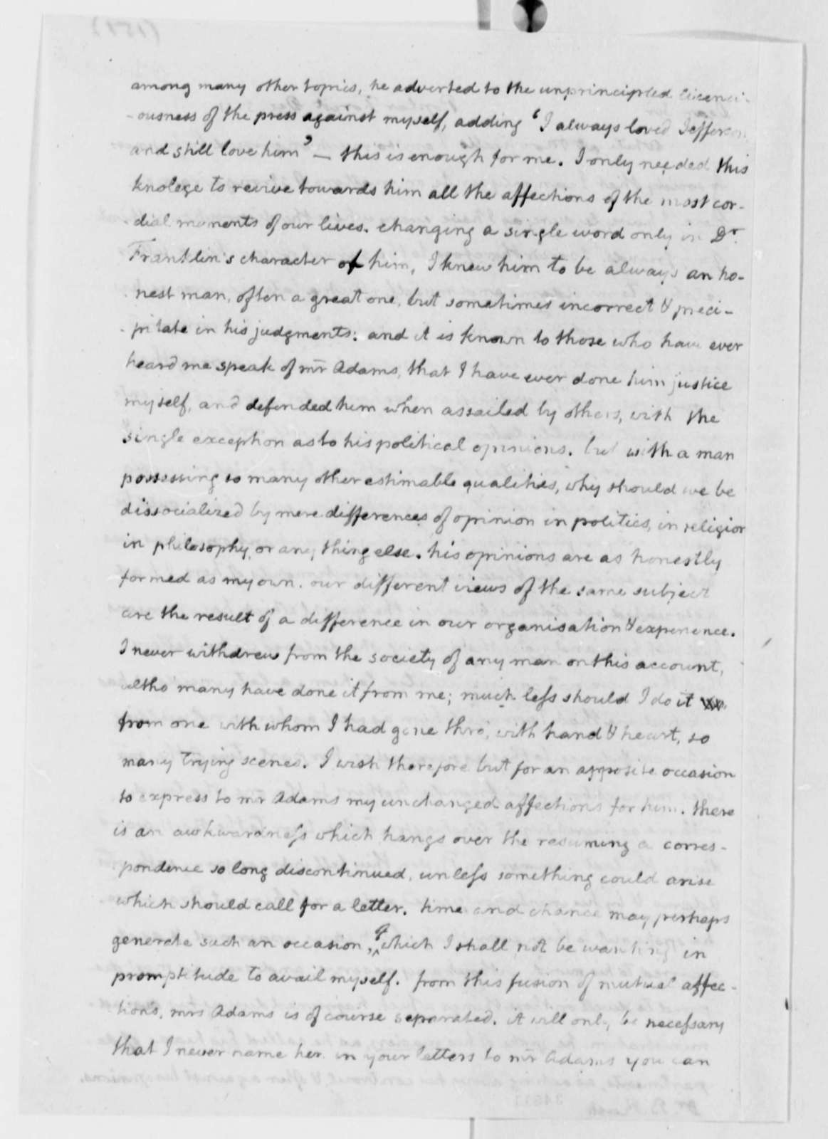 Thomas Jefferson to Benjamin Rush, December 5, 1811