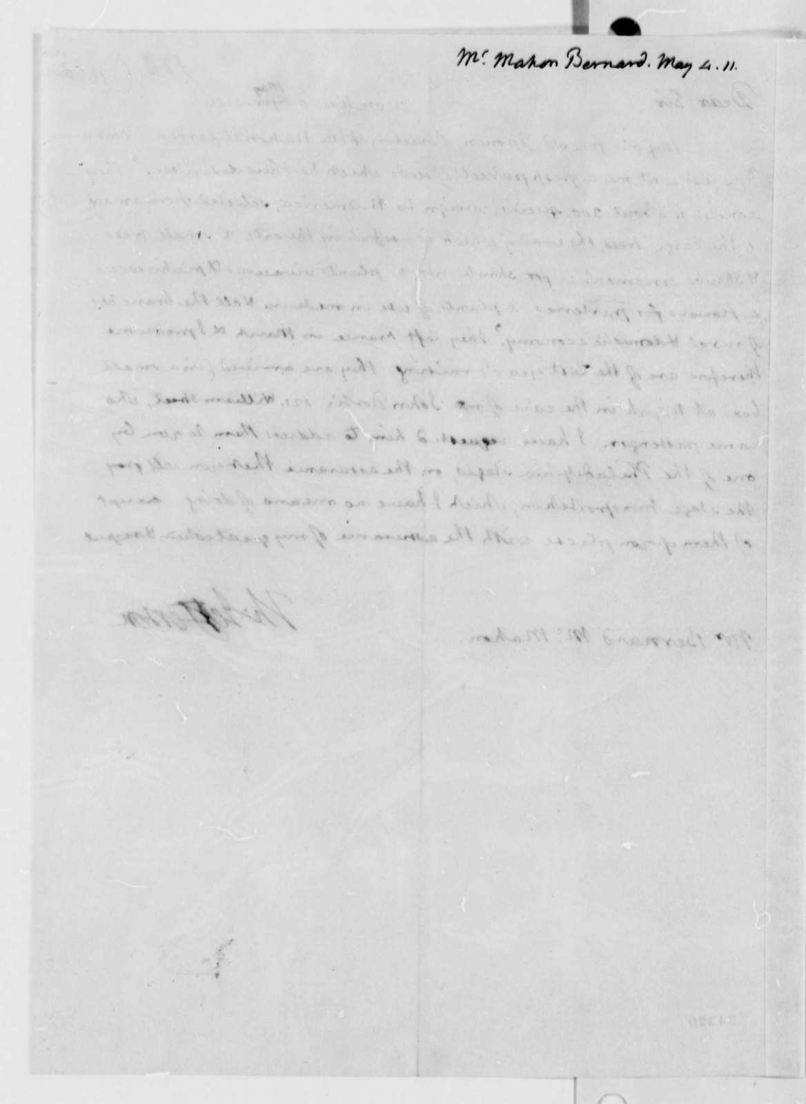 Thomas Jefferson to Bernard McMahon, May 4, 1811