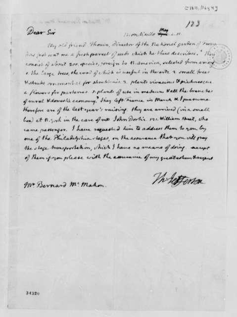 Thomas Jefferson to Bernard McMahon, May 4, 1811