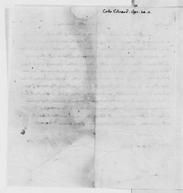 Thomas Jefferson to Edward Coles, April 24, 1811