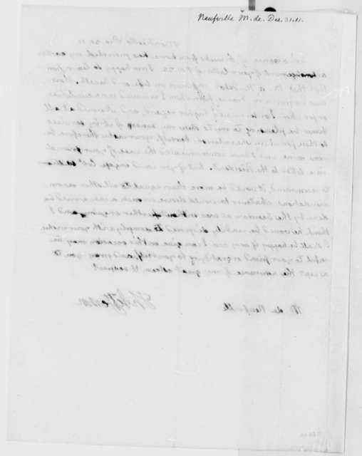Thomas Jefferson to J. G. Hyde de Neuville, December 31, 1811