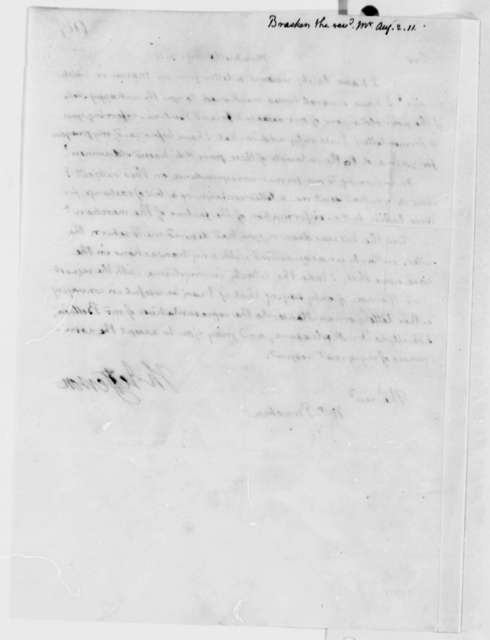 Thomas Jefferson to John Bracken, August 2, 1811