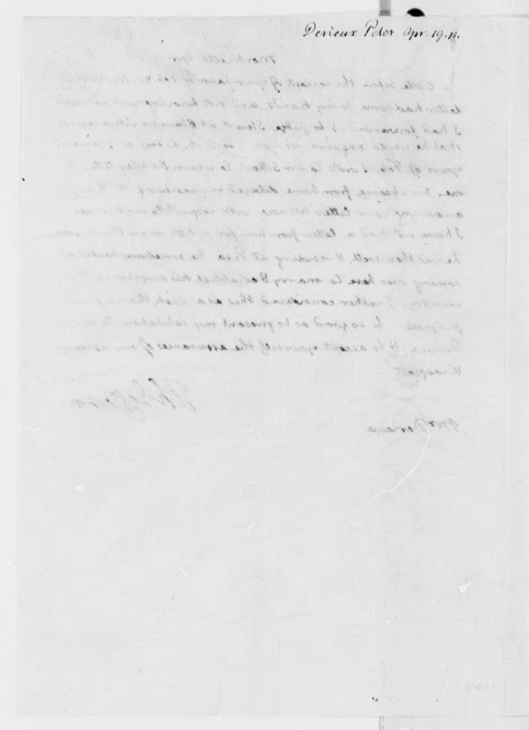Thomas Jefferson to Justin Pierre Plumard Derieux, April 19, 1811