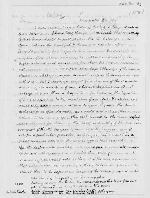 Thomas Jefferson to Melatiah Nash, November 15, 1811