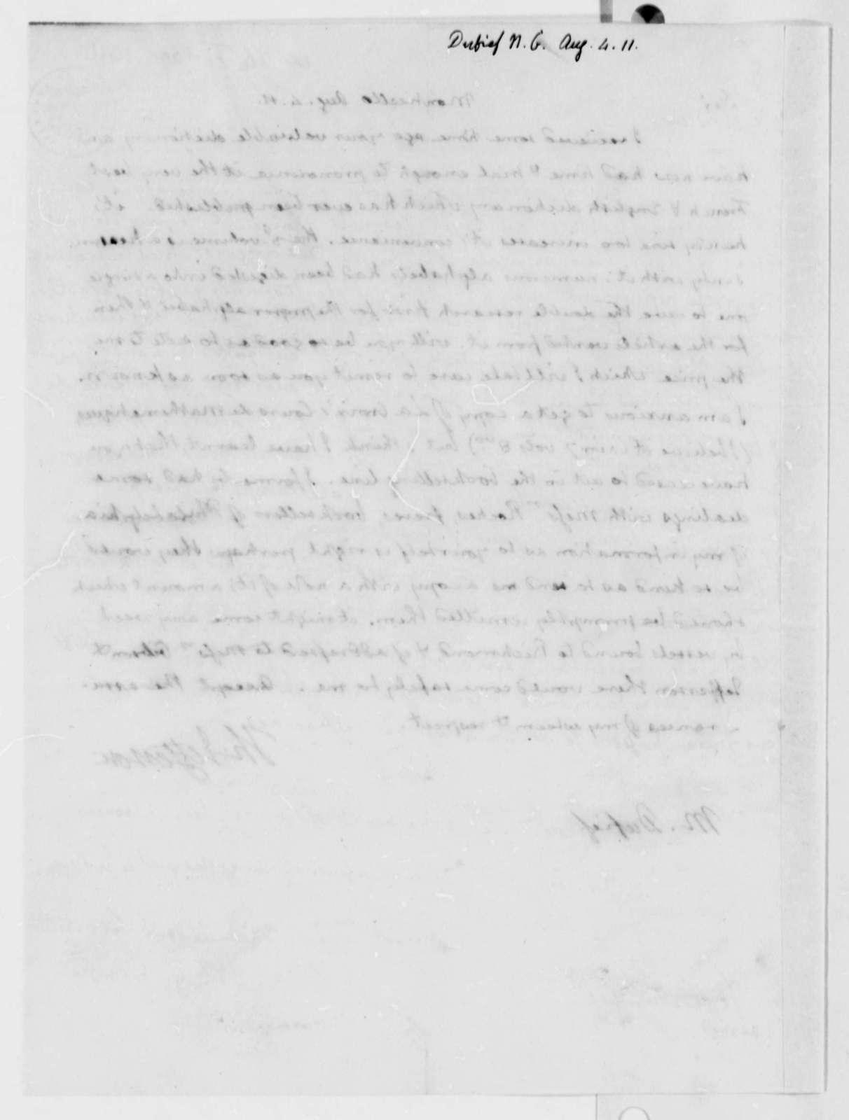 Thomas Jefferson to Nicholas Gouin Dufief, August 4, 1811