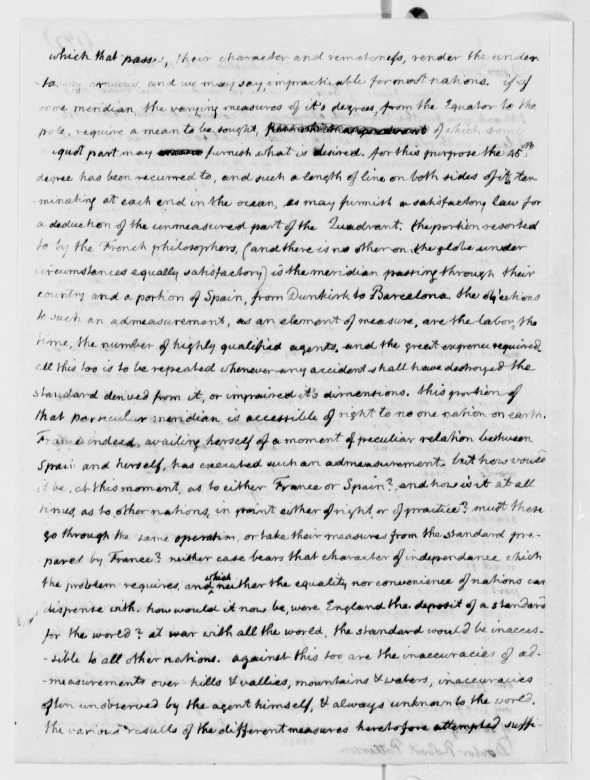 Thomas Jefferson to Robert Patterson, November 10, 1811