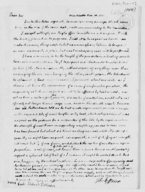 Thomas Jefferson to Robert Patterson, November 10, 1811